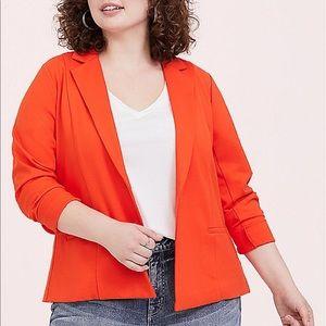 Nwt Torrid size 4 Orange Ponte Blazer